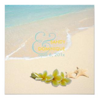 PixDezines Plumeria Lei /beach/starfish tropical Personalized Announcements