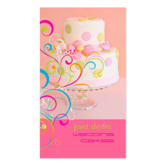 PixDezines Pretty in Pink wedding cake diy color Business Cards