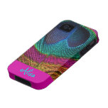 PixDezines Psychedelic Peacock Case-Mate iPhone 4 Cover