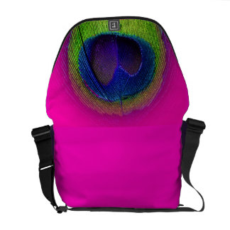 PixDezines Psychedelic Peacock/cobalt blue+emerald Messenger Bag