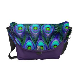 PixDezines Psychedelic Peacock/cobalt blue+purple Commuter Bags