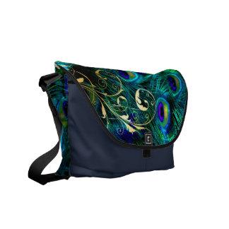 PixDezines Psychedelic Peacock Courier Bag