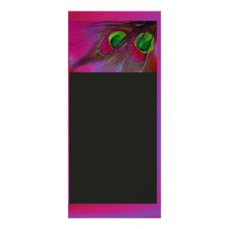 PixDezines Psychedelic Peacock, Customize It! Personalised Rack Card
