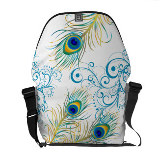 PixDezines Psychedelic Peacock/diy background Courier Bags