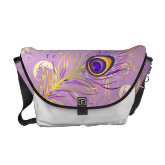 PixDezines Psychedelic Peacock/diy background Courier Bag
