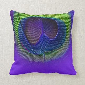 PixDezines psychedelic peacock eye/purple+lime Cushions