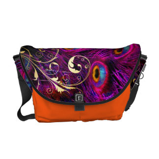 PixDezines Psychedelic Peacock Courier Bags