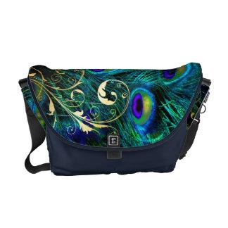 PixDezines Psychedelic Peacock Messenger Bags