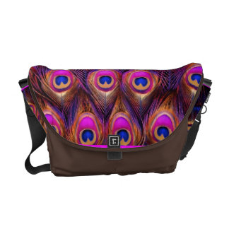 PixDezines Psychedelic Peacock/pink/blue Courier Bags