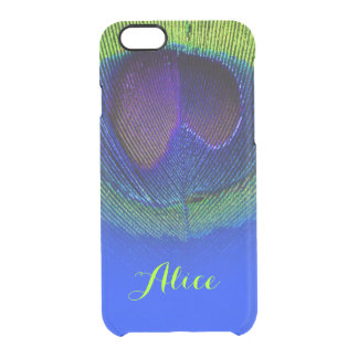 PixDezines Psychedelic Peacock Plume Clear iPhone 6/6S Case