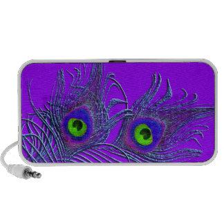 PixDezines Psychedellic Peacock Feather ♥♥♥♥ Travel Speaker