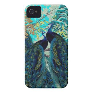 PixDezines Psychedellic Peacocks+damask iPhone 4 Cover
