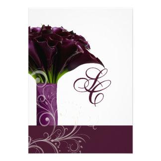 PixDezines purple calla lilies diy Personalized Invitation
