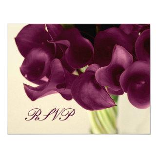 PixDezines purple calla lilies/diy Personalized Announcement