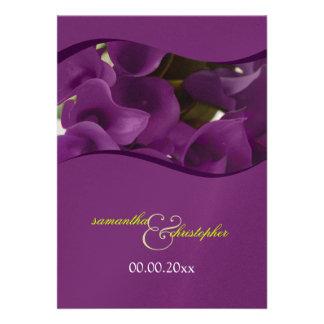 PixDezines purple calla lilies diy Invitation