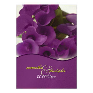 PixDezines purple calla lilies diy Personalized Invite