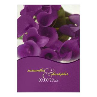 PixDezines purple calla lilies/diy Personalized Invite