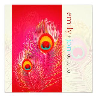 PixDezines Pzazz Peacock Feather Custom Invitations