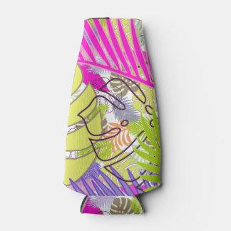 PixDezines rainforest/DIY background color Bottle Cooler