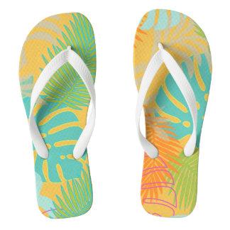 PixDezines rainforest/DIY background color Thongs