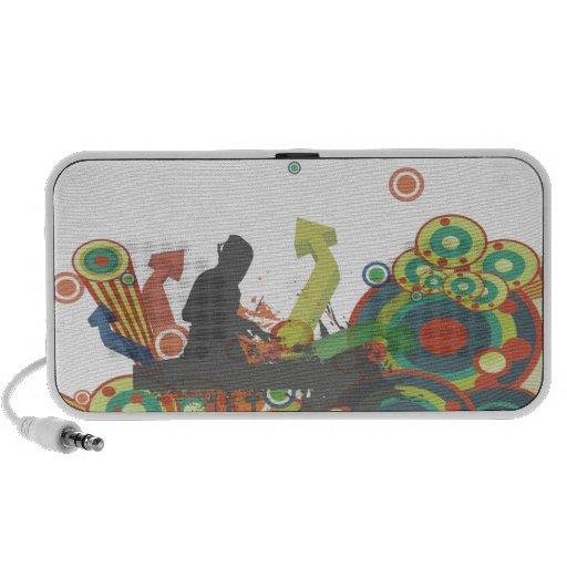 PixDezines Retro DJ ♥♥♥♥ Notebook Speaker