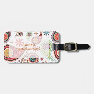 PixDezines retro paisley/diy background Luggage Tag