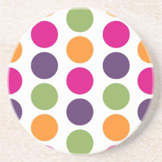 PixDezines Retro Polka Dots/DIY background color! Sandstone Coaster