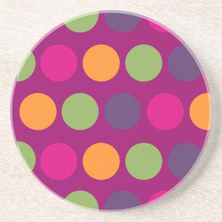 PixDezines Retro Polka Dots/DIY background color! Drink Coasters