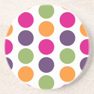 PixDezines Retro Polka Dots/DIY background color! Sandstone Coaster