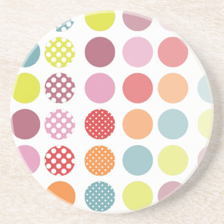 PixDezines Retro Polka Dots/DIY background colour! Coasters