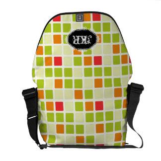 PixDezines retro tiles/DIY background Commuter Bags
