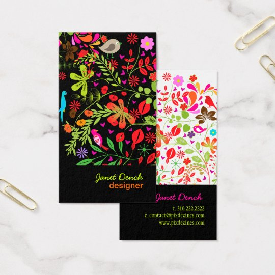 PixDezines RETRO TREE/DIY background colour Business Card