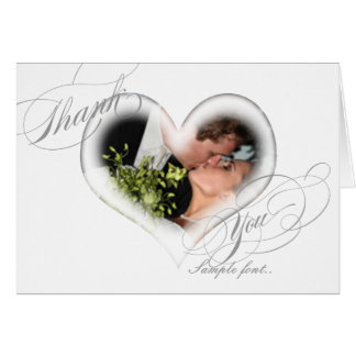 PixDezines Romantic Heart/Wedding Thank You Card