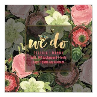 PixDezines Rose Garden 13 Cm X 13 Cm Square Invitation Card