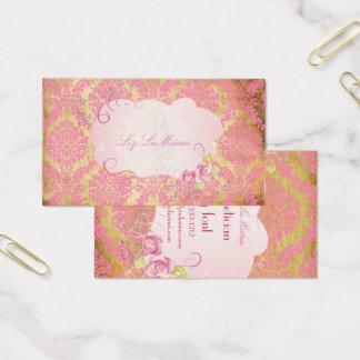 PixDezines Rosette damask/faux parchment Business Card