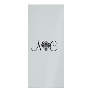 PixDezines rossellini florette, wedding program 10 Cm X 24 Cm Invitation Card