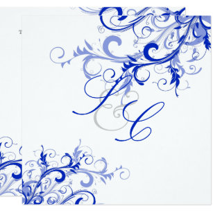 Pixdezines Royal Blue Swirls Diy Background Invitation
