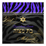 PixDezines Royal Purple Zebra Stripes, Bat Mitzvah