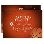 PixDezines RSVP Basketball Bar Mitzvah ✡ 9 Cm X 13 Cm Invitation Card