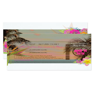 PixDezines rsvp boarding pass/bird of paradise Card