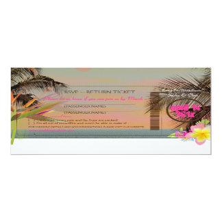 PixDezines rsvp boarding pass/bird of paradise Invitations
