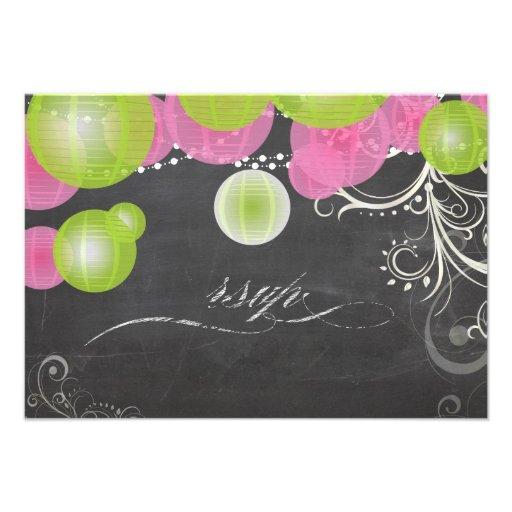 PixDezines rsvp chalkboard/green+pink lanterns/ Announcements