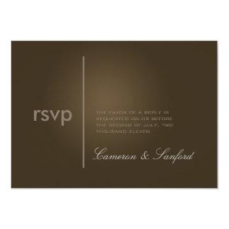 PixDezines RSVP Contemporary + classy/cafe noire Card
