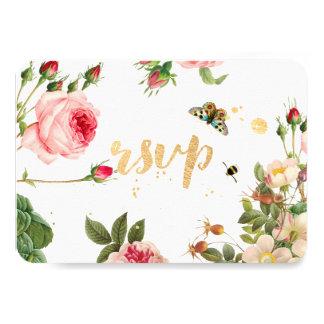 PixDezines RSVP Garden/Rose Buds/peonies/Redoute Card