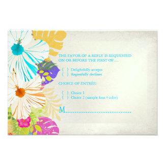 PixDezines rsvp hibiscus+fern Personalized Announcement