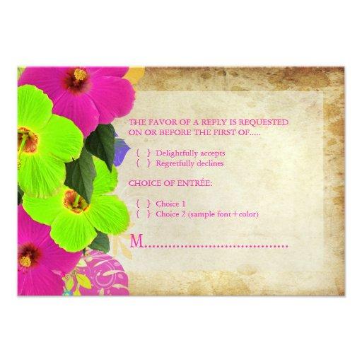 PixDezines rsvp hibiscus+fern Invitation