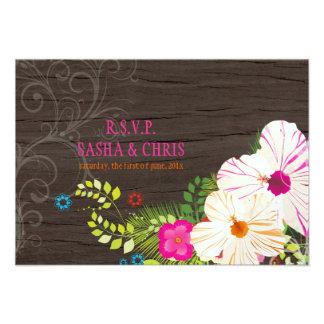 PixDezines rsvp hibiscus+fern Custom Invites