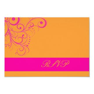 PixDezines rsvp Pink Swirls/DIY background color! Card