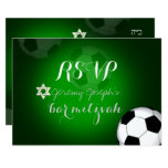 PixDezines rsvp Soccer Bar Mitzvah/DIY colour 9 Cm X 13 Cm Invitation Card