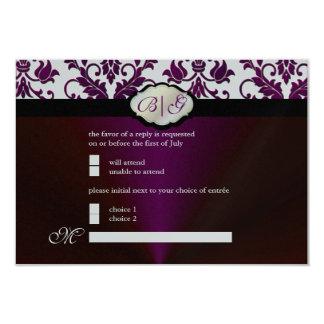 PixDezines rsvp Tanza Damask/DIY trim color/white 9 Cm X 13 Cm Invitation Card